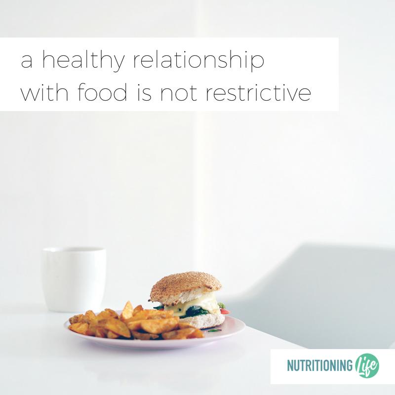 diet healthy relationship food restricitve